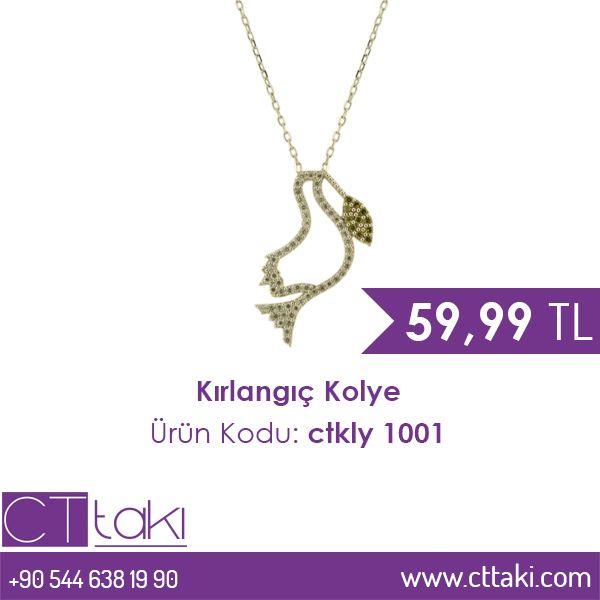 Kırlangıç kolye. 59.99 TL fiyatı ile CT Takı'da. #kırlangıç #kolye #takı #gümüş #cttakı #takıdünyası #fiyat