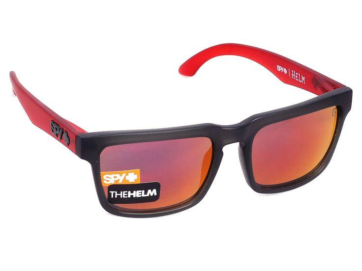 Helm/Cherry Bomb/Grey w/Red Spectra/57/18 #sunglasses #spy #optofashion  To Spy Helm είναι ένα κοκκάλινο γυαλί ηλίου με γκρι  ματ πλαίσιο και κόκκινους βραχίονες και έντονο κόκκινο καθρέφτη. Το μέγεθος και το ορθογώνιο σχήμα του ικανοποιεί τα περισσότερα σχήματα προσώπου. Επέλεξε το Spy Helm /Cherry Bomb/Grey w/Red Spectra και αποκτησε μια Rock funk εικόνα.