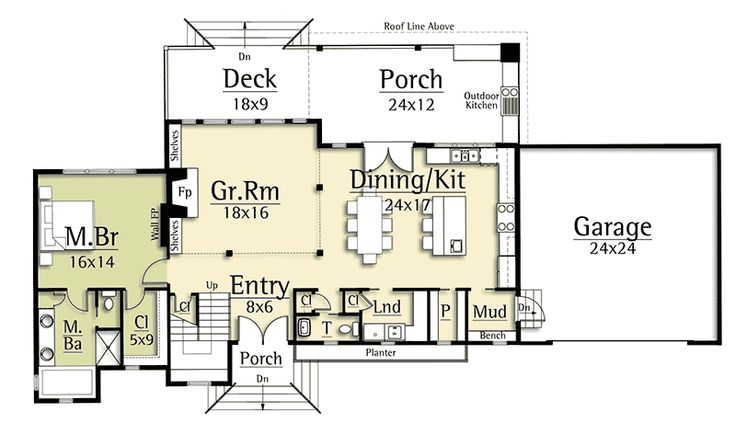Modern House Plan with Two-Story Great Room - 18829CK | Architectural Designs - House Plans