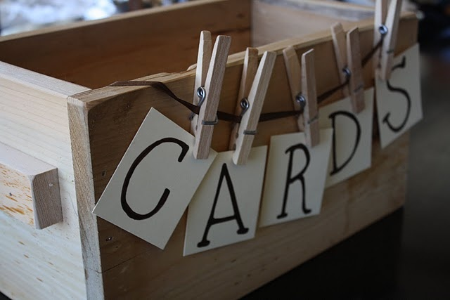 Card box. Creator intends it as a wedding card holder but it could be for various events
