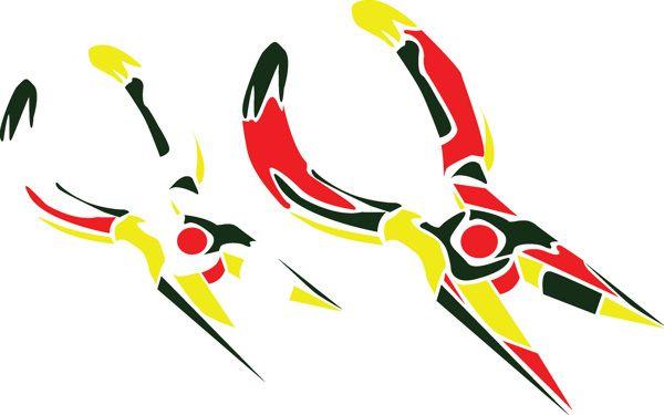 pliers stylized