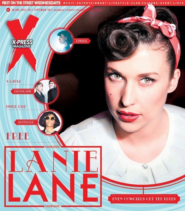 Look at lovely Lanie on the cover of this week's Xpress mag in WA. Pic by Daniel Boud.