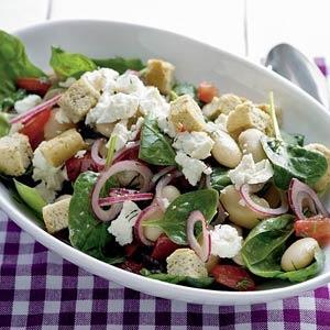 Recept - Salade van reuzenbonen met spinazie - Allerhande