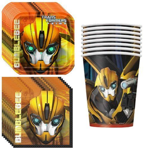 Transformers Party Supplies Pack Including Plates Cups and Napkins  8 Guests -- To view further for this item, visit the image link.Note:It is affiliate link to Amazon.