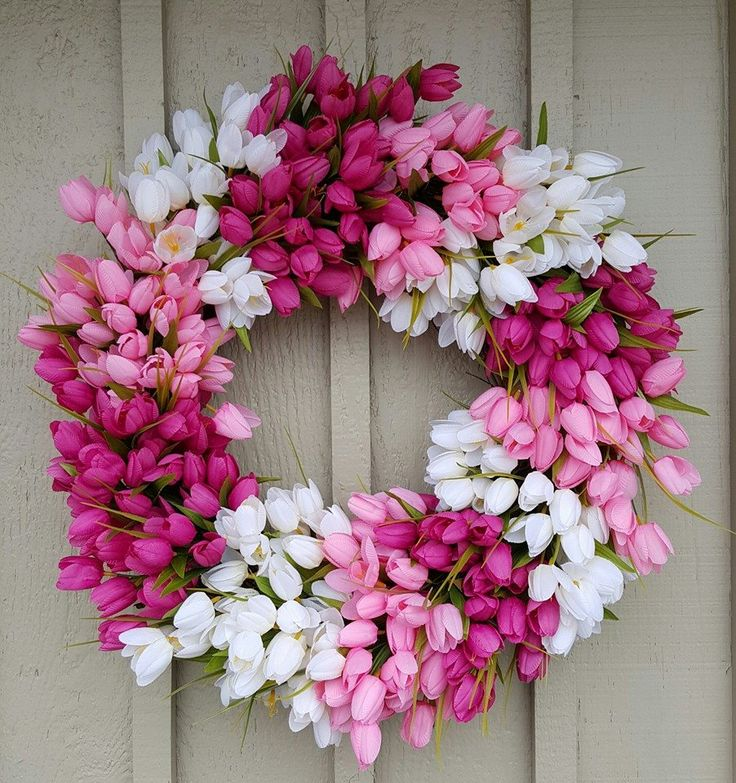 Beautiful Spring Tulip Wreath Mother 39 S Day Wreath