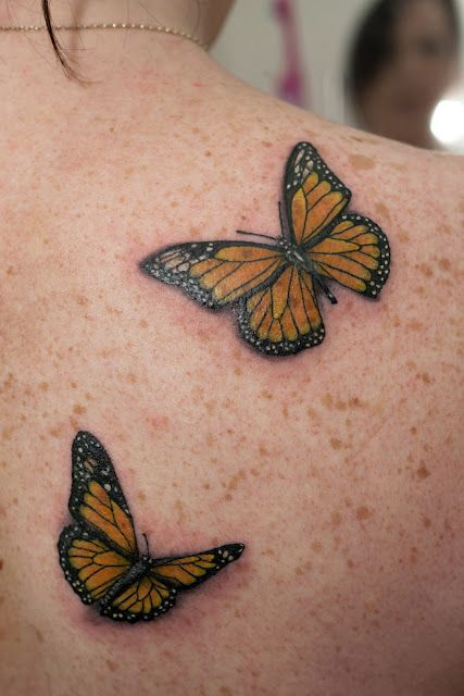 Monarch Butterfly tattoos.
