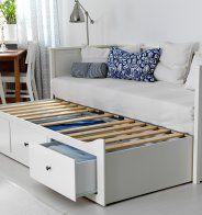 Un lit banquette gigogne style scandinave, Ikea - Marie Claire Maison