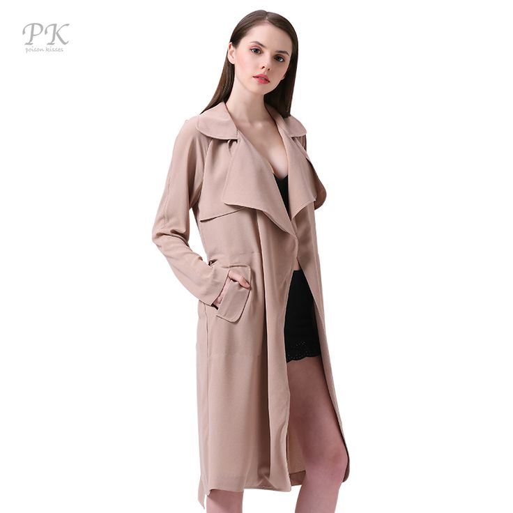 PK Camel Trench Coat for Women Turndown Collar Womens Trench Coats British Style Clothing Long Coat Female Womens Windbreakers -*- AliExpress Affiliate's buyable pin. Click the VISIT button to enter www.aliexpress.com #Women'strench coats