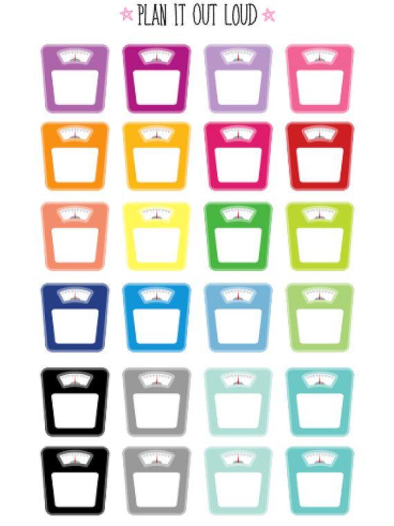 Scale stickers Erin Condren Stickers di PlanItOutLoud su Etsy