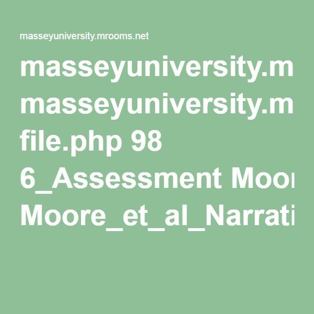 masseyuniversity.mrooms.net file.php 98 6_Assessment Moore_et_al_Narrative_assessment.pdf