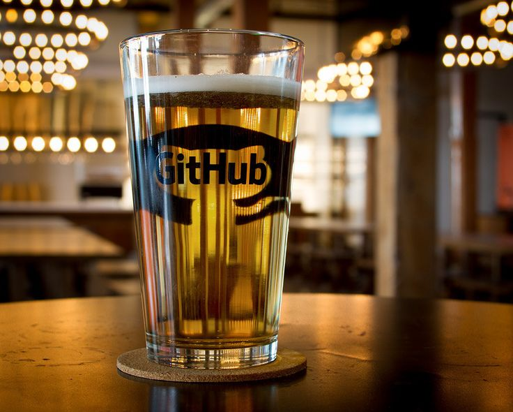 Set of two heavyweight 16 oz. Octopint glasses for your favorite malty beverage. GitHub logo on one side, GitHub mark on the other.Beer me!