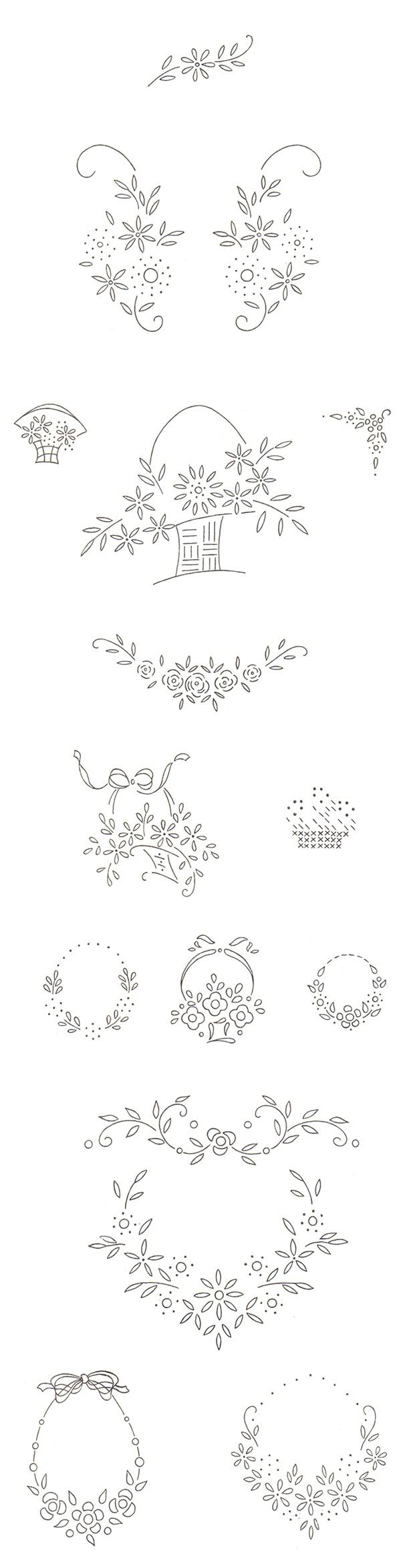 Best 25 vintage embroidery patterns ideas on pinterest vintage free vintage floral motifs perfect for hand embroidery needlework bankloansurffo Choice Image