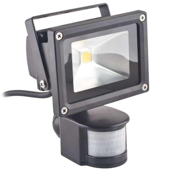 Zewnętrzny projektor ECONOMY LINE RTV000486 Force Light ścienna OPRAWA naświetlacz LED 10W biały zimny z czujnikiem ruchu IP65