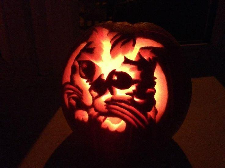 Cute cat pumpkin design x | Cat themed Jack-O-Lanterns ...Cat Jack O Lantern Patterns