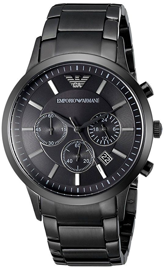 Emporio Armani Men's AR2453 Dress Black Mesh Watch