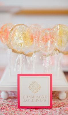 Make your own Champagne Lollipops