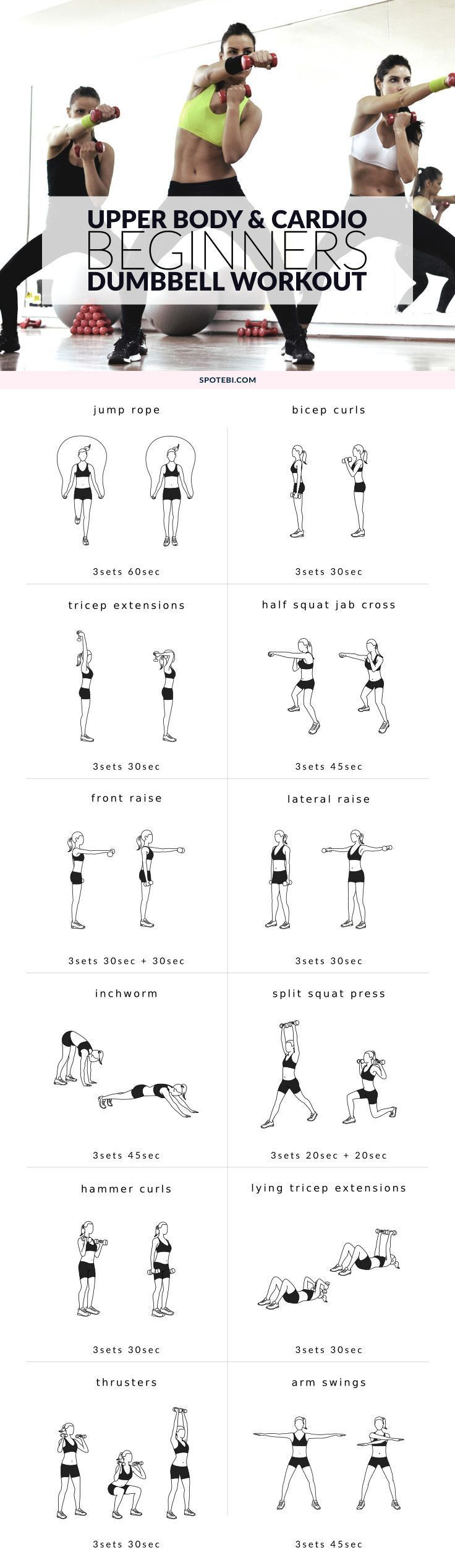 cool Upper Body & Cardio Beginners Workout