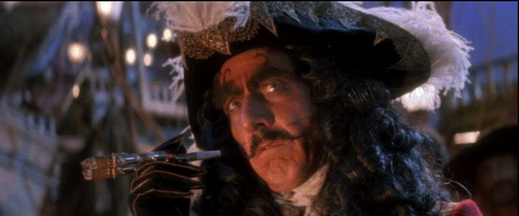 """Dustin Hoffman, """"Hook,"""" Amblin/ Tri Star, 1991, Designed by Anthony Powell, The Collection of Motion Picture Costume Design: Larry McQueen"""