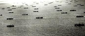 This is a picture of a huge convoy system from WW1. Pretty much a huge naval fleet.
