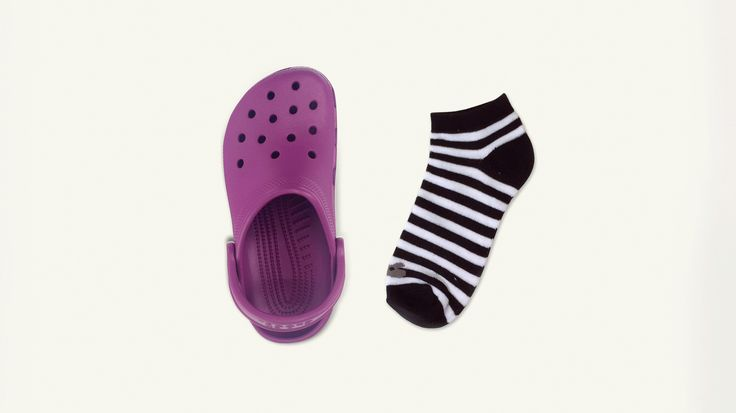 The first step to pulling off Crocs with socks, is putting them on. #FindYourFun #shoes #fun #socks