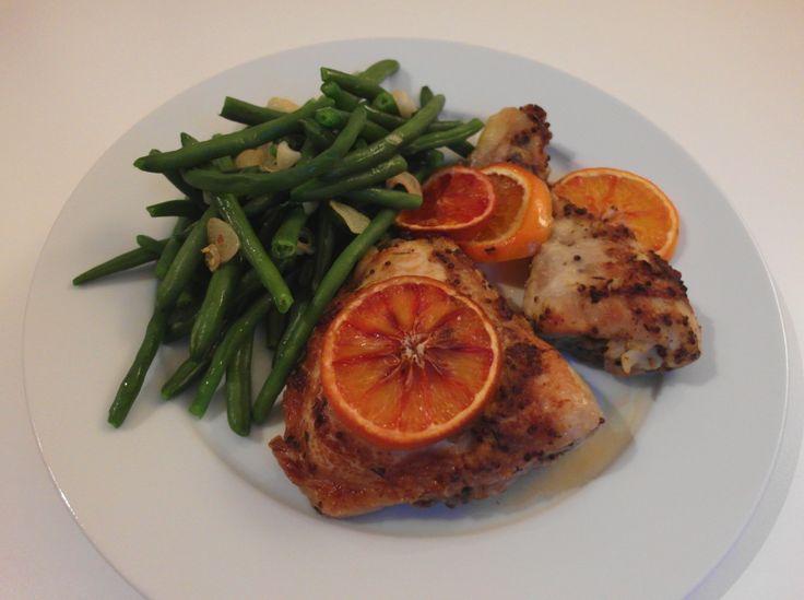 Aneta Goes Yummi: Pečené kura s červenými pomarančmi