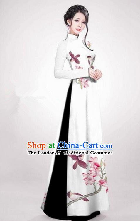 b990d686c7f Top Grade Asian Vietnamese Traditional Dress