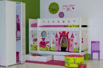 Flexa white stapelbed prinses - Kidsgigant.nl