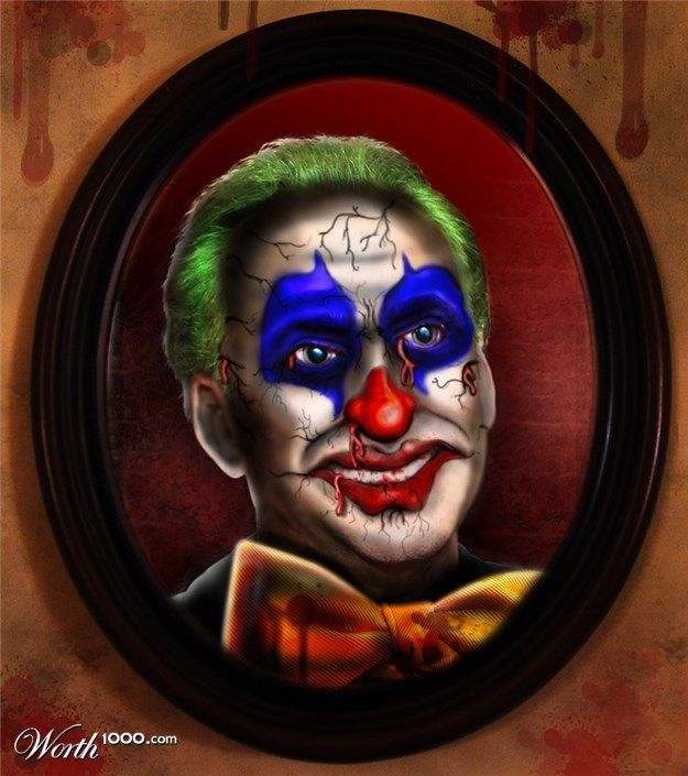 Evil Celebrity Clowns 11 - Worth1000 Contests.  Nicholas Rage
