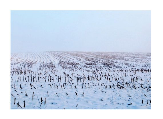 Minimalistic art photo Modern Winter Landscape by TheClayPlay