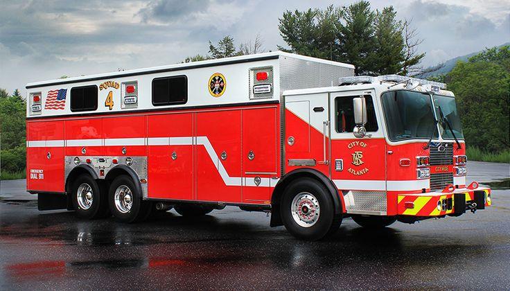 Atlanta GA Fire Department Squad 4 Fire Apparatus  - #Setcom #Rescue