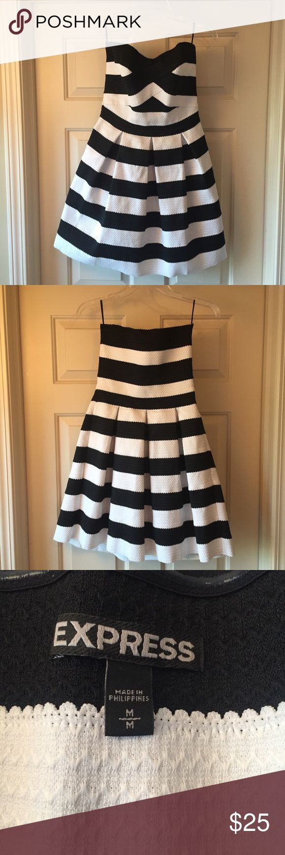 The dress is white - Black And White Dress