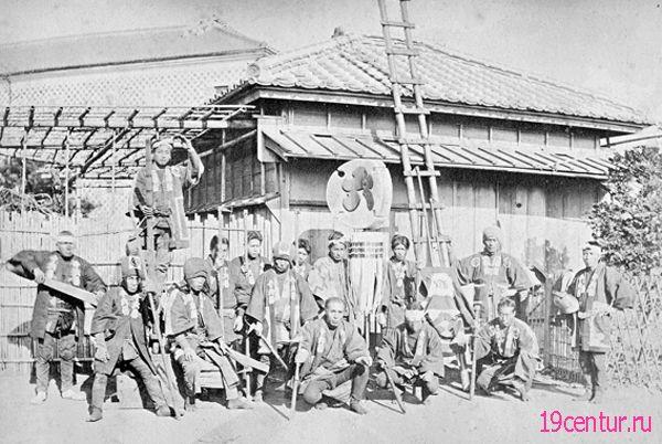 Японская пожарная команда. 19 век.