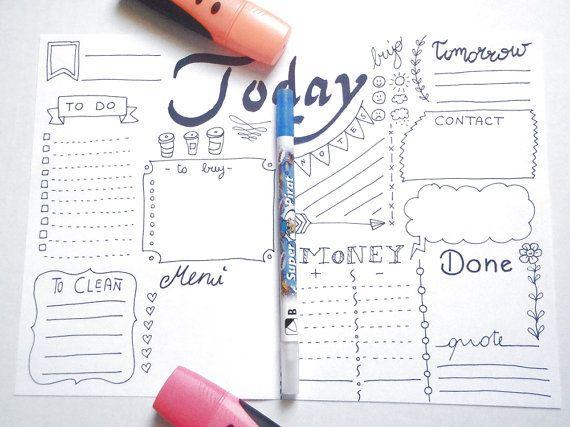 diario giornaliero stampare planner pdf di LaSoffittaDiSte su Etsy