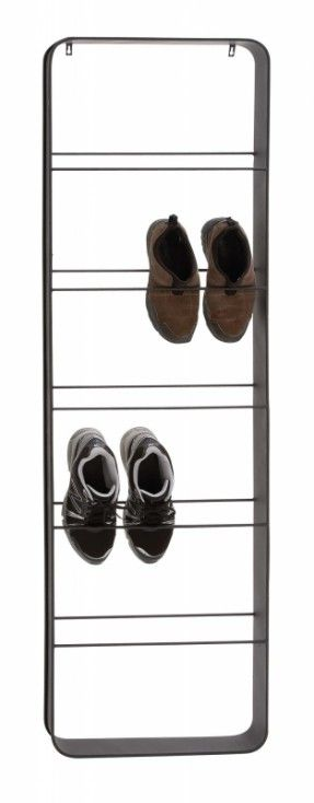 modern black metal 10 pairs shoe rack hang wall door hanging x x