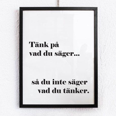 Poster - Tänk på vad du säger.... | Bluebox.se