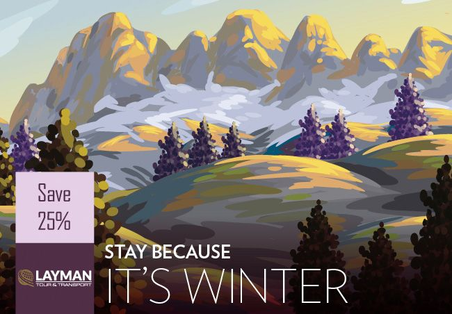 STAY BECAUSE IT'S WINTER! Happy 2016! #charterbus #busrental #coachbus #trip #travel #journey