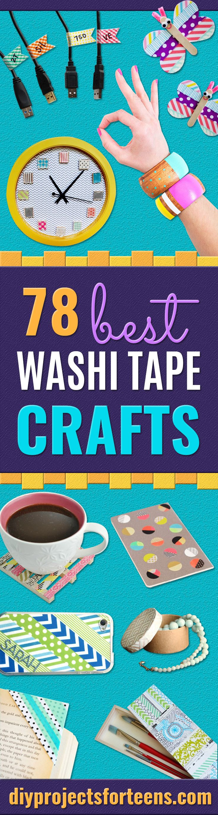 Best washi tape crafts and DIY ideas for washi tape projects - Cheap room decor, gifts for friends and school supplies for kids and teens. They are just so lovely and they add so much color to everything on a positive note! And since we love to make you happy, we made another list of the really AWESOME- easy washi tape crafts you can make! These are unbelievably cool, cheap, creative a