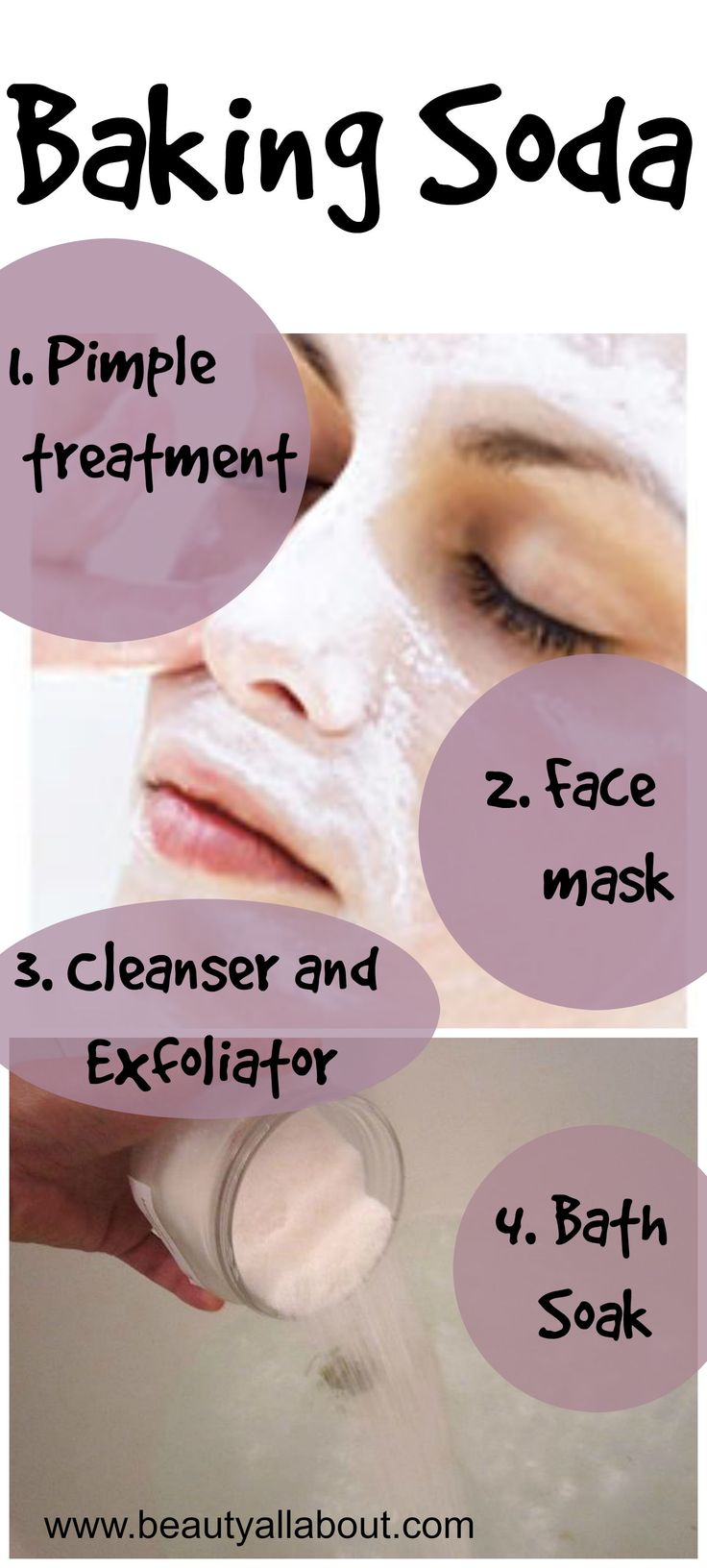 Baking Soda as a Pimple treatment, Face Mask, Exfoliator and Bath Soak | All About Beauty