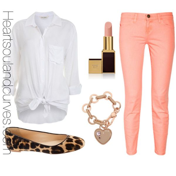 """How To Wear Neon Jeans"" by adoremycurves on Polyvore"