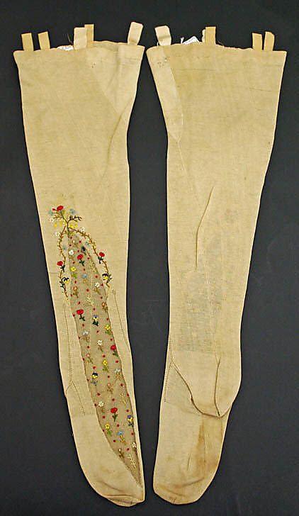 19th Century Stockings  Culture: French  Medium: cotton, silk