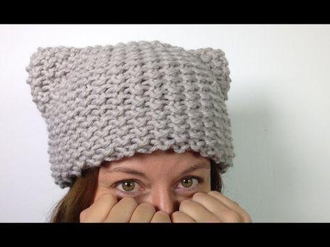 Como Loom Knit um Kitty Hat (orelhas de gato) [SUPER EASY] - TUTORIAL DIY