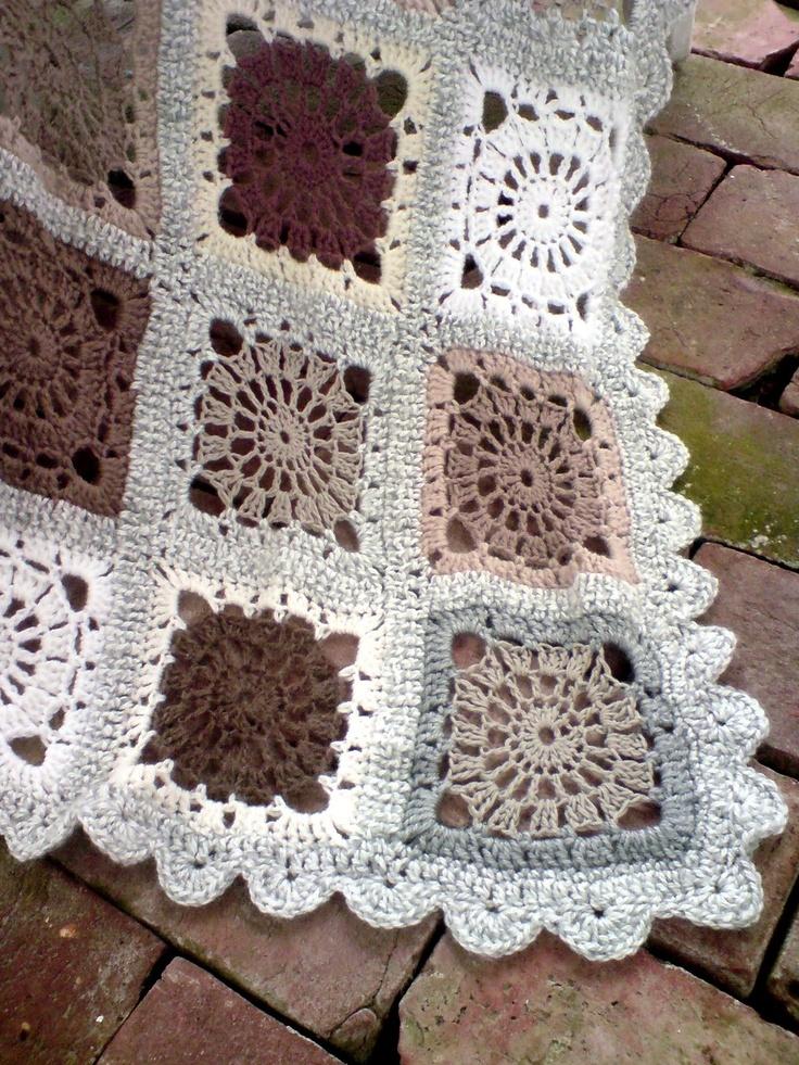 Beautiful Neutral Color Scheme Crochet Afghans Virka