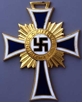 """The """"Honor Cross for German Mothers"""" was handed out to especially prolific..."""