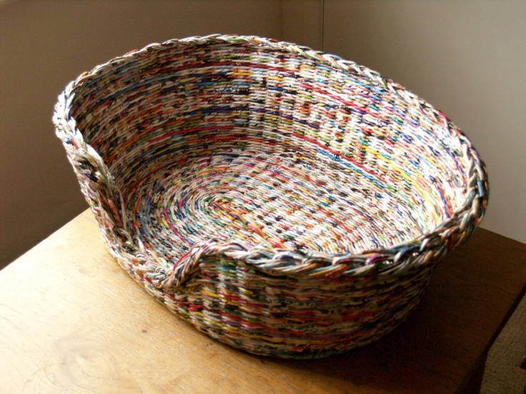Basket Weaving Essay : Best images about newspaper weave on wall