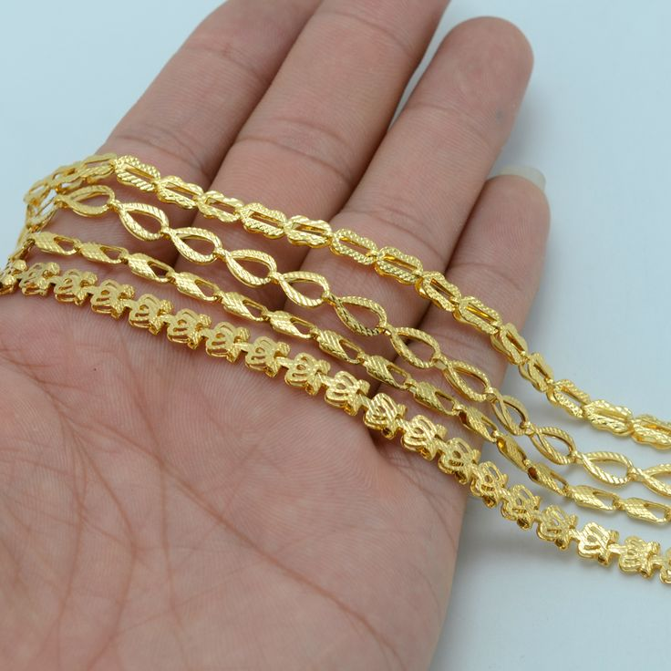 4 Style/Each $4.87/ Ethiopian Gold Necklaces for Women  Gold Plated Africa Chain Jewelry Eritrea Ethiopia Necklaces #013606