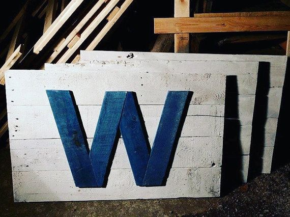 Pallet Chicago Cubs Flag by R2KPallet on Etsy
