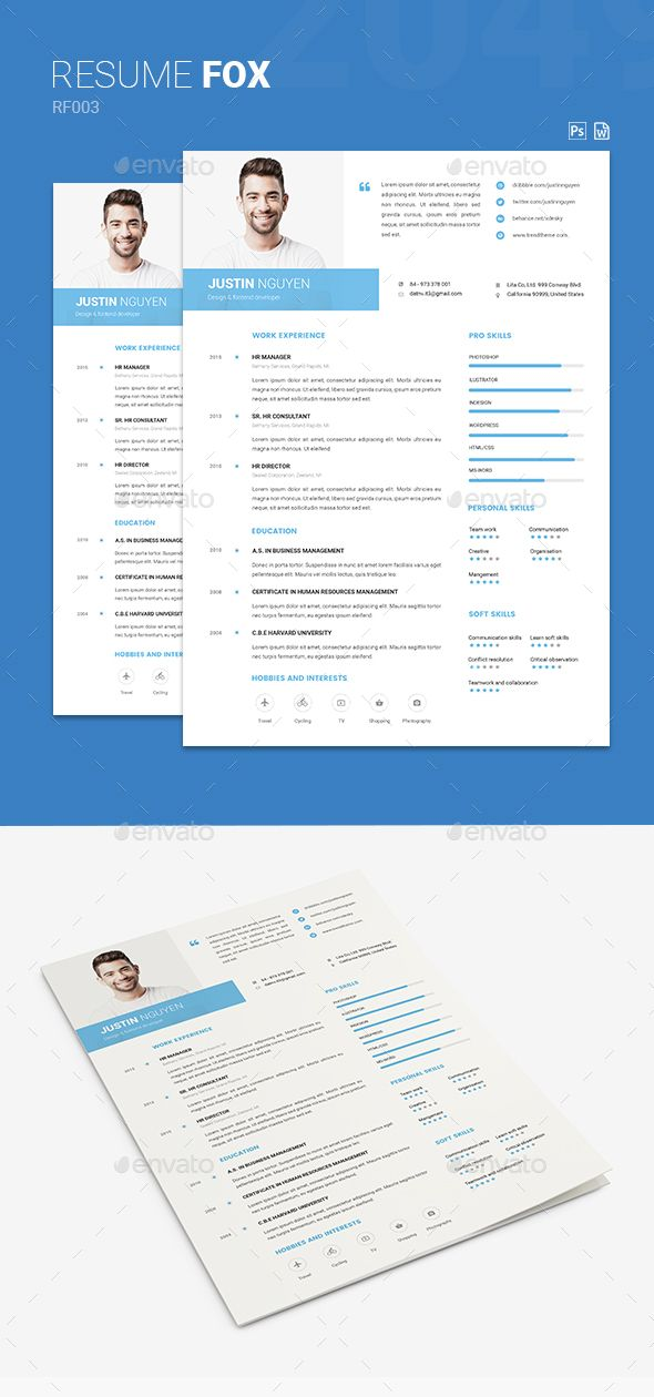 Resume #elegant #job  • Download here → https://graphicriver.net/item/resume/21311348?ref=pxcr