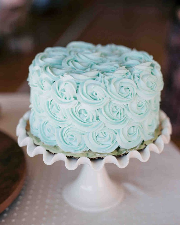 Mint-Chocolate Pastel Wedding Cake