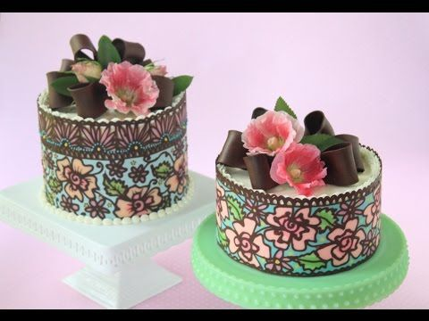 How to Make Multi-Color/Solid Chocolate Cake Wraps - YouTube