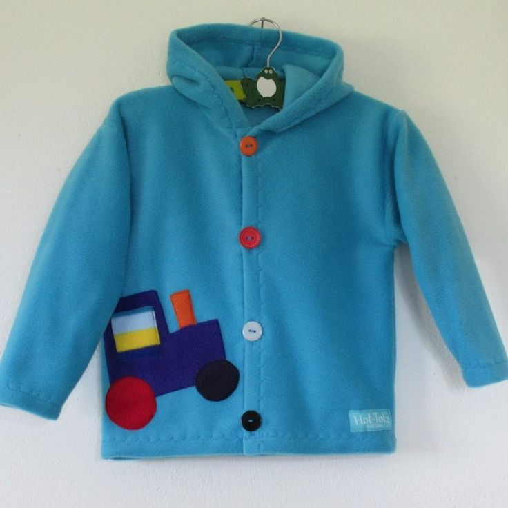 Fun kids fall jacket with hood. Made from high quality fleece fabric. unique, All motifs are handcut and unique, never one the same.